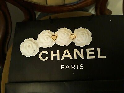 £43.63 • Buy Chanel Camellia Fabric Flowers And Chanel Buttons