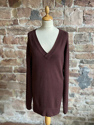 £65 • Buy N.Peal 100% Pure Cashmere V Neck Long Sweater/Dress. FREE UK POST