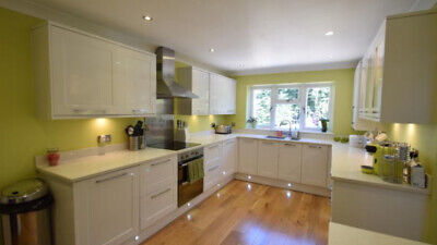 £1000 • Buy Large Modern Kitchen With White Gloss And Quartz Worktops