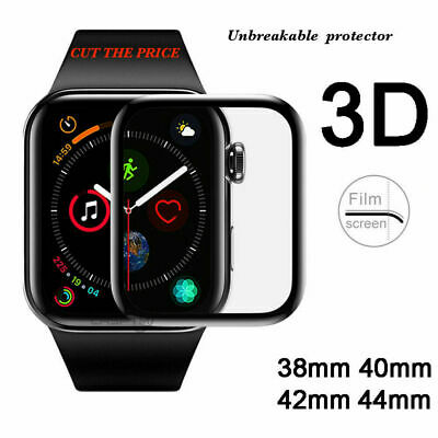 $ CDN6.61 • Buy Apple Watch Full Edges Cover 3D Tempered Glass Protector Series SE/6/5/4/3/2/1