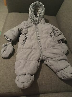 £0.99 • Buy Baby Boys George All In One Coat 0-3 Months Snowsuit