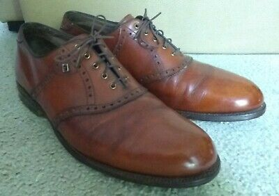 $60 • Buy 12 D Vintage Made In USA FootJoy Golf Shoes Leather Soles And Heels High Quality