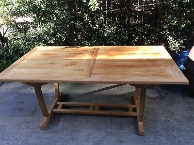 AU250 • Buy Large Solid Tropical-Timber Extendable Indoor/Outdoor Rectangular Table