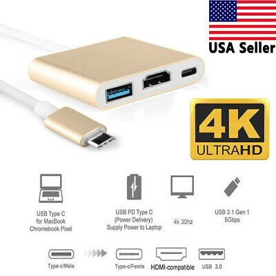 $10.99 • Buy USB Type C To HDMI HDTV TV Cable Adapter Converter For Android Macbook Tablet US