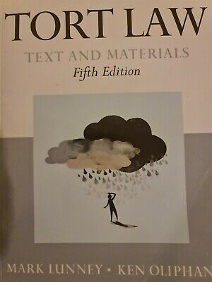 £6 • Buy Tort Law Text And Materials Fifth Edition Mark Lunney  Ken Oliphant Oxford Press