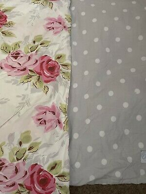 £23 • Buy Cath Kidston Vintage Kingsize Duvet Cover With Two Spotted Pillow Cases And Two