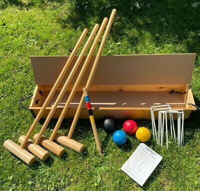 £89.99 • Buy Townsend Croquet Set For 4 People In Easy Carry Box & Instructions 34  Handle