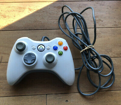 AU25 • Buy Xbox 360 White Wired Controller