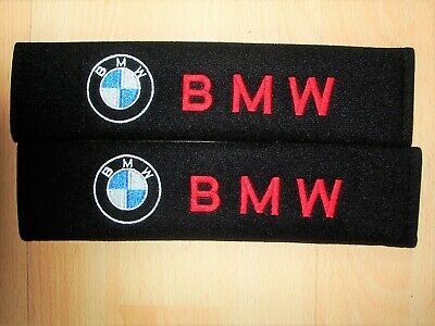 £5.95 • Buy A Pair Of New Embroidered Bmw Soft Seat Belt Covers