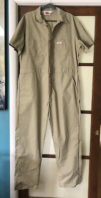 $34.95 • Buy DICKIES Workwear S/S Cotton Poly Work Coveralls Jumpsuit Mens Sz 46 Chest