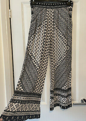 £1.79 • Buy Primark Size 10 Harem Style Trousers Pattern Black And White Womens Size 10