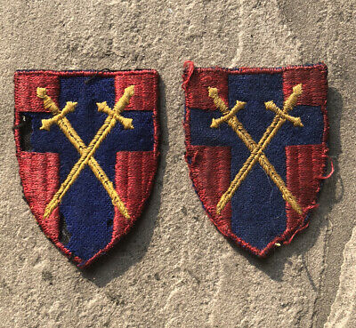 £5 • Buy Pair Of British Army WW2 HQ 21st Army Group Formation Patches
