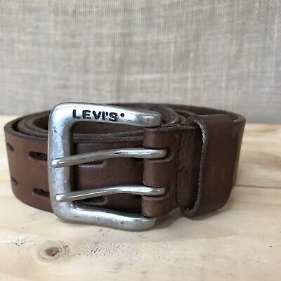 $24 • Buy Levi Strauss Genuine Leather Double Prong Belt Brown 38