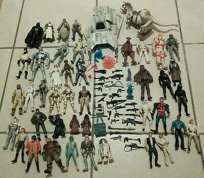 $ CDN62.94 • Buy Vintage 90s LOT Star Wars 43 Action Figures Toys Accessories Ship Ghostbusters