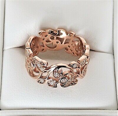 £74 • Buy Ring -  9ct Rose Gold On 925 Silver . Size -O. Dia 17.5mm. New, Never Worn
