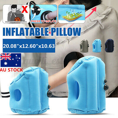 AU14.51 • Buy Inflatable Pillow Rest Travel Air Camping Hiking Cushion Neck Support Mat Nap AU
