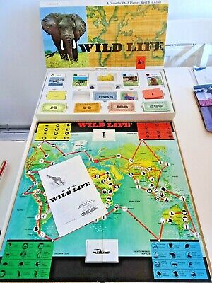 £14.99 • Buy Spears WWF WILD LIFE Board Game 1973 No. 1195 COMPLETE 2 - 5 Players