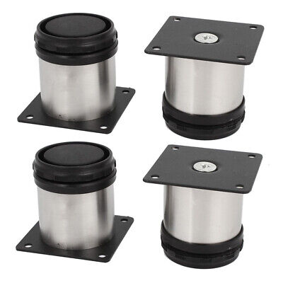 £6.41 • Buy 4Pcs Stainless Steel Feet Plinth Legs Sofa Beds Cupboard Cabinets Furniture CO