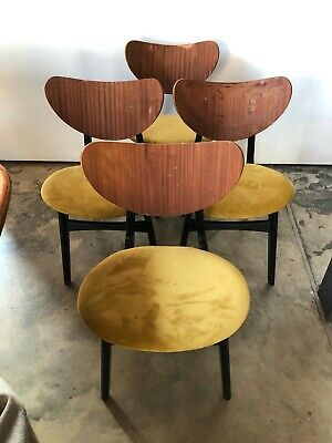 £350 • Buy G Plan E Gomme Librenza 'Butterfly' Dining Chairs X 4 - 1960s