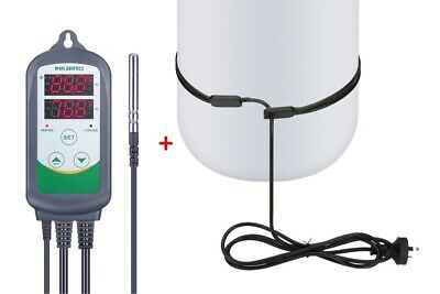 AU56.99 • Buy Home Heat Heating Belt For Brew Beer Wine + Inkbird Temp Controller Thermostats