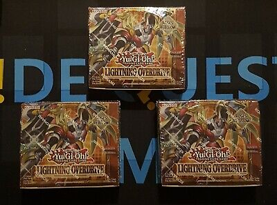 £154.95 • Buy Lightning Overdrive Booster Box X3 - Sealed - LIOV - 1st Edition - YuGiOh
