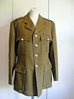 £30 • Buy Vintage Military Uniform Tunic Jacket Royal Corps Of Signals Embroidered Badge M