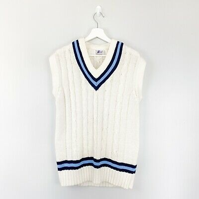 $25.16 • Buy Cable Knit Cricket Jumper White Large