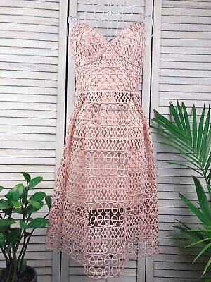 AU58 • Buy Forever New Pink Dress, Lace, A Line,, Size 8, Gorgeous!!!
