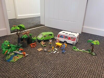£28 • Buy Playmobil Camper Van And Car Woodland Camping Loads Of Extras And Accessories