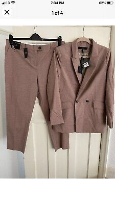 £25.20 • Buy BNWT Womens Next Dusky Pink Two Piece Trousers Suit Size 16 Rrp £103
