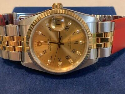 AU6792.58 • Buy New ROLEX TUDOR PRINCE With  Diamonds 18 K Gold & Stainless/steel 36 Mm Case