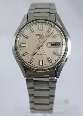 $ CDN40.28 • Buy Vintage Seiko 5 17 Jewel Cal. 6309 Automatic Day/Date Stainless Wristwatch