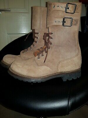 £50 • Buy French Foreign Legion Style Brown Leather/Suede Army Boots  Size 42