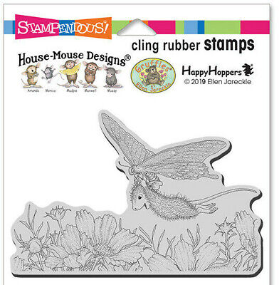 £7.95 • Buy Stampendous House Mouse Butterfly Soaring Rubber Stamp