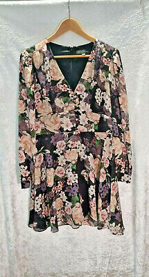 AU39 • Buy FOREVER NEW Long Sleeved Floral Dress (Size 10)