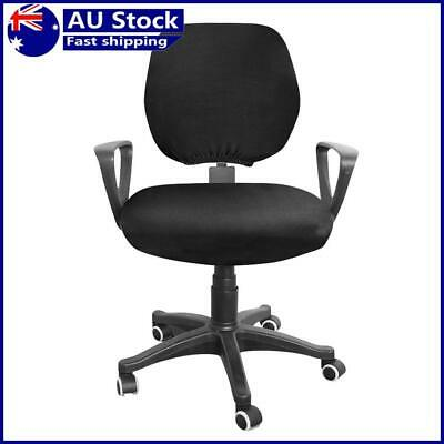 AU13.36 • Buy Spandex Stretch Computer Chair Cover Home Office Chairs Seat Case (Black)