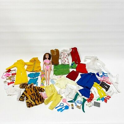 $ CDN113.28 • Buy Vintage Barbie Maddie Mod Clone Doll Mixed Lot Of Clothes Accessories 1968 B1