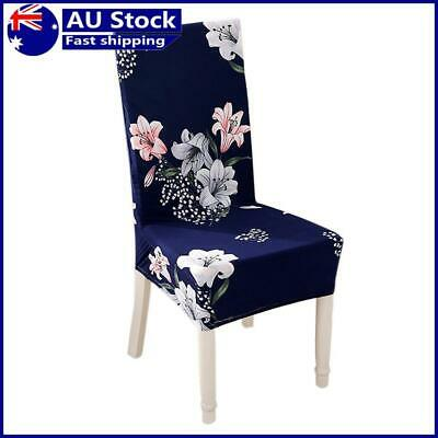 AU13.16 • Buy Spandex Chair Cover Lily Printed Stretch Home Office Hotel Seat Case (1pc)