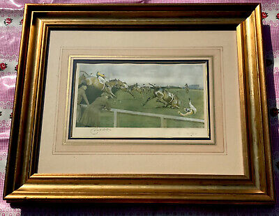 £205 • Buy Cecil Aldin Original Vintage Signed Print Of The Grand National Horse Race