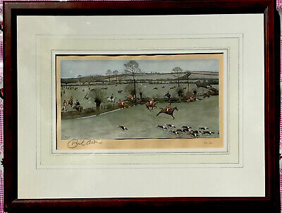 £130 • Buy Cecil Aldin Limited Edition Signed Hunting Print The Warwickshire Hunt