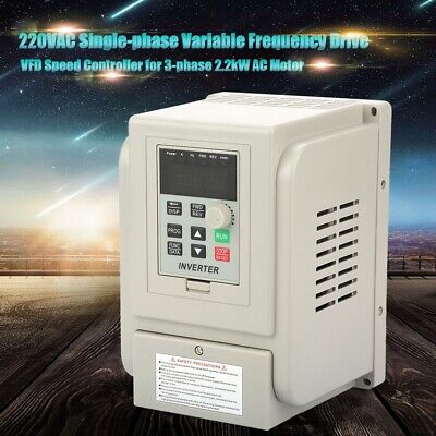 £15.43 • Buy 2.2KW Single To 3 Phase VFD Variable Frequency Drive Inverter Speed Converter UK
