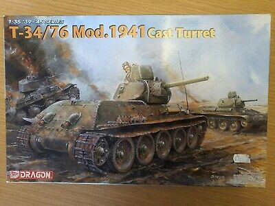 £35 • Buy Dragon 1/35 T-34/76 Mod 1941 Cast Turret With Etch Model Kit #6418