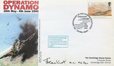 £9.99 • Buy Dunkirk: Operation Dynamo FDC Signed By Air Commodore J A Leathart CB, DSO