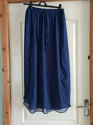 £0.99 • Buy Size 12 Navy Blue Skirt. Long. From George