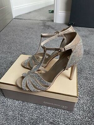 £20 • Buy Ladies Occasion Shoes Champagne / Rose Gold, Diamante Size UK 8