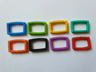 £2.35 • Buy 8 X Mixed Rubber Key Caps Square Coloured Covers Plastic Top Cap Covers