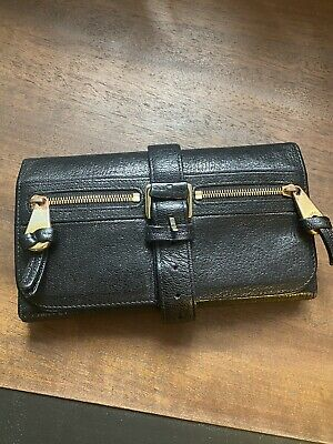 £120 • Buy Mulberry Mabel Purse / Clutch In Black Leather