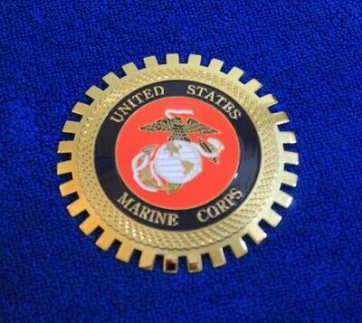 $24 • Buy USMC Marine Corp Grille Badge Bumper License Topper Accessory Navy