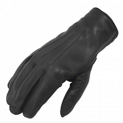 £8.99 • Buy Men's Leather Police Top Quality Soft Genuine Real Driving Gloves Unlined Black