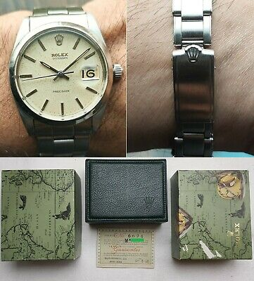 AU3586.08 • Buy 1967s Vintage ROLEX Precision Oysterdate 6694 RicePudding Patina Tropical Dial